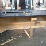 houten casco wordt geleverd